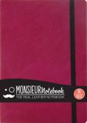 Monsieur Notebook Leather Journal - Pink Ruled Medium A5