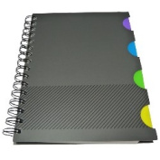 Black Tabbed Index Notebook, A5
