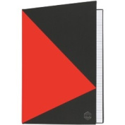 Marbig Hard Cover Notebook, A4, Ruled, Red & Black