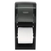 Coreless Double Roll Tissue Dispenser, 7 1/10 x 10 1/10 x 6 2/5, Stainless Steel