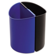Safco 9927BB Desk-Side Recycling Receptacle 3 gal Black and Blue
