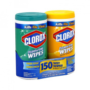 Clorox Disinfecting Wipes Value Pack, Fresh Scent and Citrus Blend, 150 Count total