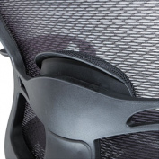 Alera Etros Series Suspension Mesh Mid-Back Synchro Tilt Chair, Mesh Back/Seat, Black