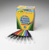 Washable Paint Brush Pens, 8 Assorted Colours, 40/Box
