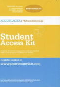 ACCUPLACER/MyFoundationsLab without Pearson eText -- Design -- Standalone Access Card