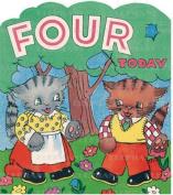 Cats Talking 4th Birthday - Greeting Card (6 Cards Individually Bagged W/ Envelopes & Header)