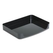 2200 Series Side-Loading Desk Tray, Plastic, 8 1/2 x 14, Black