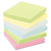 Post-it Recycled Pop-Up Notes Refill, 3 x 3, Sunwashed Pier, 6 100-Sheet Pads