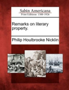 Remarks on Literary Property.