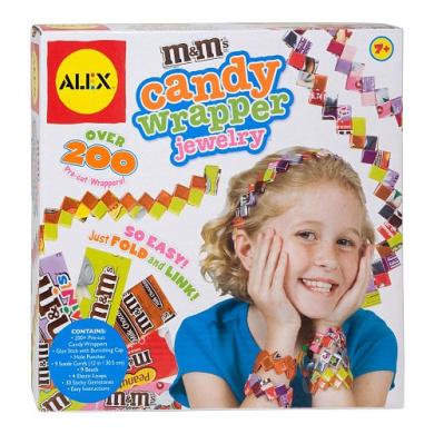 ALEX Toys M & M's Candy Wrapper Jewellery Kit