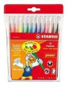 Power Felt Tip Pens Swan STABILO - Power 12 pen pack
