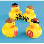 One Dozen (12) Rubber Ducky CHINESE DUCKS Party Favours