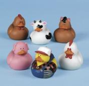 Farm Rubber Ducky 12 ct