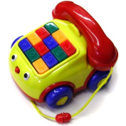 Megcos Pull-Along Musical Phone -Affordable Gift for your Little One! Item #LMID-1180