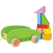Hape E0408 Mini Block and Roll Toddler Toy