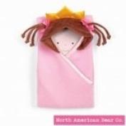 Little Princess Hooded Blanket Brunette by North American Bear Co.