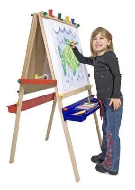 Deluxe (Child)ren's Wooden Standing Art Easel - (Child)