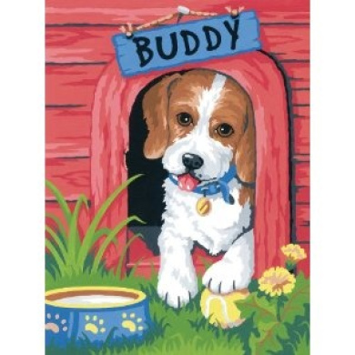 Dimensions Needlecrafts Paintworks Paint By Number, Cute Puppy