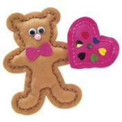 Bear With Heart Begin To Sew Kit-9.5cm x20cm