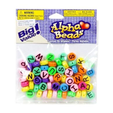 Big Value! Alpha Beads - Multicolor 10mm