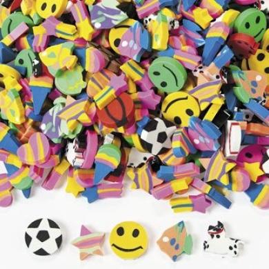 Mini Eraser Assortment (500 Pieces)