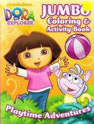Nickelodeon Jumbo Assorted Dora the Explorer Activity and Colouring Book (1pc) - Dora Colouring Book
