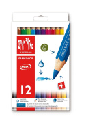 Caran D'Ache Fancolor Water-soluble Pencils - Box of 12 Jumbo Assorted Colours