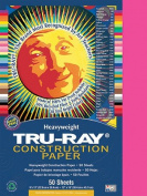 Pacon 103013 - Tru-Ray Construction Paper, 34kg., 9 x 12, Shocking Pink, 50 Sheets/Pack
