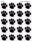 Teacher Created Resources Black Paw Prints Stickers