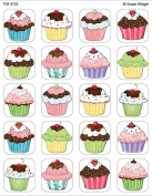 Teacher Created Resources Tcr4732 Sw Cupcakes Stickers