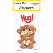 "Suzy's Zoo Stickers 4-pack, ""Hug Bears"" 10123"