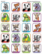 Teacher Created Resources Animal Faces 1 Stickers, Multi Colour