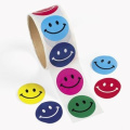 100 Smile Face Roll Stickers, 1 Roll