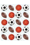 Eureka Eu-655209 Mixed Sports Theme Stickers
