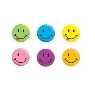 Silly Smile Face Stickers 3.8cm (1 Roll)
