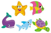 TREND ENTERPRISES INC. T-46031 SUPERSHAPES SEA LIFE STICKERS