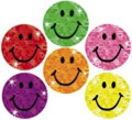 Trend Silly Smiles Glitter Stickers