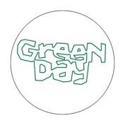 Green Day Kerplunk Logo Button B-2848