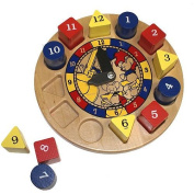 Hickory Dickory Dock Classic Wood Made in USA Toy Clock