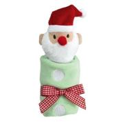 Little Christmas - Holiday Baby Cozie Blankie - Santa