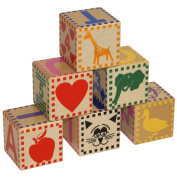 Classic Wood Baby Blocks Made in USA