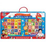 T.S. Shure Alphabet and Numbers Cutesie Wooden Blocks