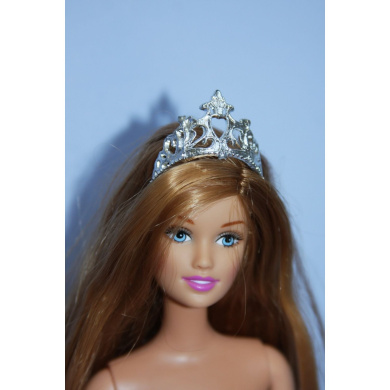 A 6 Pack of Doll Crowns in Silver Made to Fit the Barbie Doll