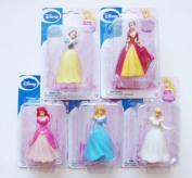 Disney Princess Figurines Set of 5 - Snow White, Belle, Ariel, Aurora, Cinderella