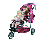 Mommy and Me Twin Doll Jogger 9669DL with Free Carriage Bag