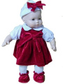 Christmas Time Outfit Designed to Fit American Girl Bitty Baby 38cm Dolls