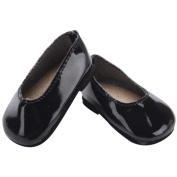 Fibre Craft 303555FS Springfield Collection Patent Leather Shoes-Black