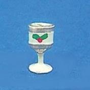 Christmas Goblet W/Holly