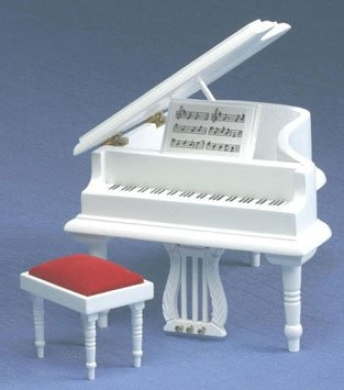 Baby Grand Piano With Stool