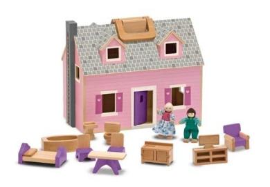 Melissa and Doug 3701 Fold & Go Mini Dollhouse